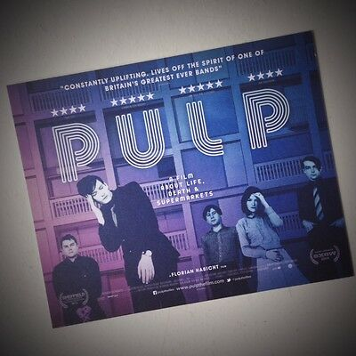 PULP Signed poscard from A Film about Life, Death & Supermarkets ★ Jarvis Coker
