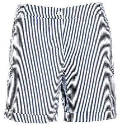 sportscraft women's shorts with blue and white stripe size 6