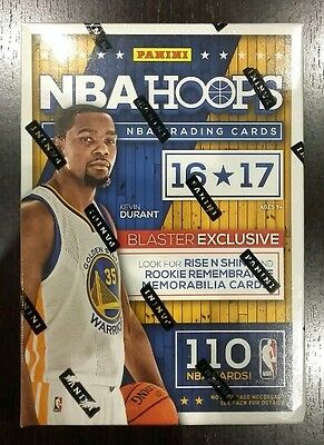 Promo BOX Panini Hoops 2016-2017 Basketball NBA 110Cards autograph 11 paquets