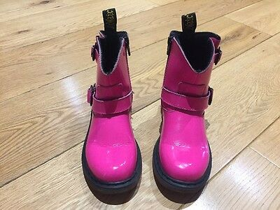 Girls Dr Martens Pink Patent Boots Size 12