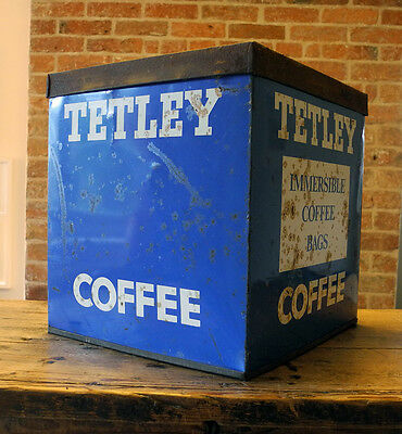 Rare Large Tetley Coffee Tin