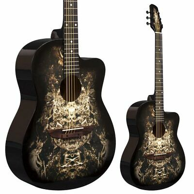 Lindo 933C Alien Black Acoustic Guitar & Gigbag | Free Express Delivery