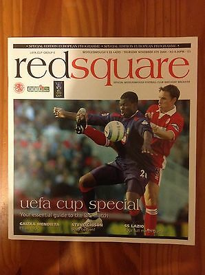 Middlesbrough v SS Lazio 2004 UEFA Cup Football Programme