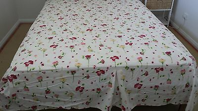 Queen Size Floral Valance, excellent preloved condition