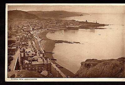Postcard ~ ABERYSTWITH General View CARDIGANSHIRE Wales ~ 1946