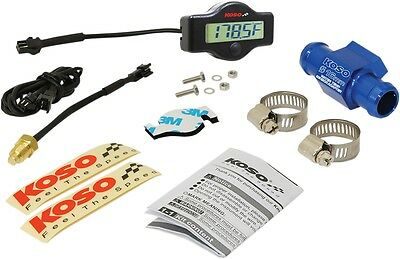 Koso BA049400-16 EX-01 Water Temp Meter with Adapters 16mm Adapter and Clamps