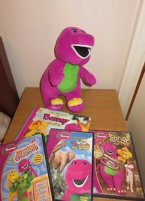 Barney Soft Toy, Book and DVDs