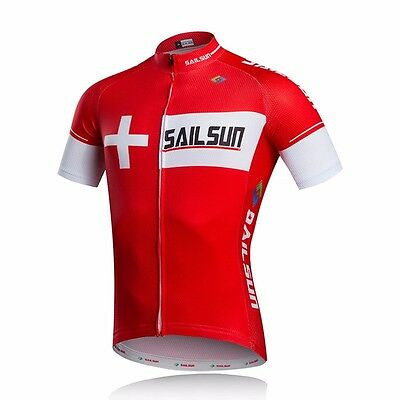 2017 Men Summer Breathable Cycling Jersey Bicycle Clothing Wear Tops Red