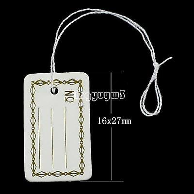 500pcs Jewelry Necklace Ring Watch Cloth Price Tags Display Label Sticker String