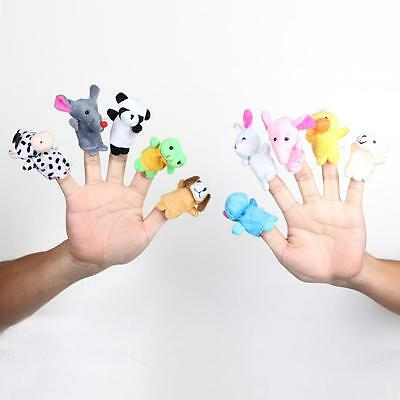 10Pcs Finger Family Puppets Cloth Doll Animal Toy Children Kid Gifts Hot