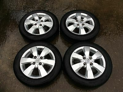 """09-14 Toyota Aygo Mk1 Set Of Alloy Wheels 14"""" Inch 6 Spoke 4 Stud With Tyres"""