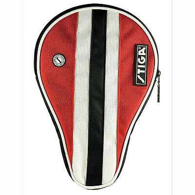 Stiga Table Tennis Bat Cover - Red/white/black.  Free Postage.
