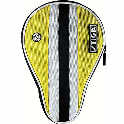 Stiga Table Tennis Bat Cover - Yellow/white/black.  Free Postage.