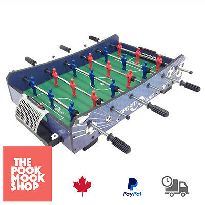 BLUE Table Top Foosball FX40 Hockey Game Mini Soccer Indoor Home Sports + 2 Ball