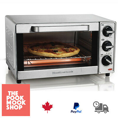 SILVER Toaster Oven 4 Slice Kitchen Electric Bake Pizza Toast Bread, Slot, Bake