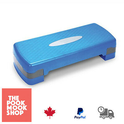 Blue Aerobic Step Fitness Stepper TONE Workout Exercise Workout, Home - Training