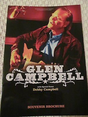 Glen Campbell Hand Signed Tour Programme (Autograph), Undedicated