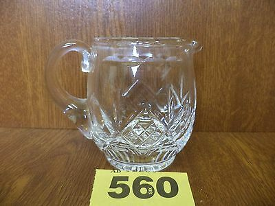 Stuart GLENGARRY Cut Crystal - Small 8.5 cm Jug - Water / Milk / Cream