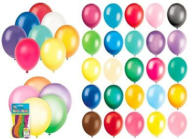 "1 / 10 / 8 Latex Balloons 12"" / 10"" Air or Helium Quality Birthday Party Wedding"