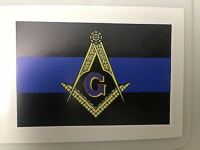 "Masonic Blue Line US 4"" Exterior Decal"