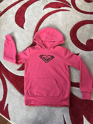 Roxy Girls Pink Pull On Hoodie Age 12 Years