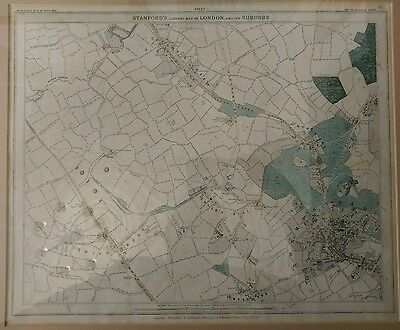 1862 Stanford Map of London Sheet 1 (Hampstead)