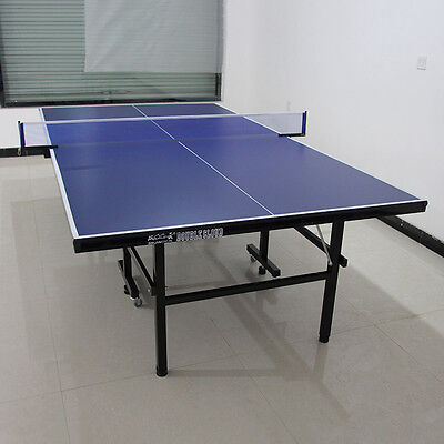 Indoor Gymnasium Folding Compact Ping Pong Tennis Table Desk Full Size