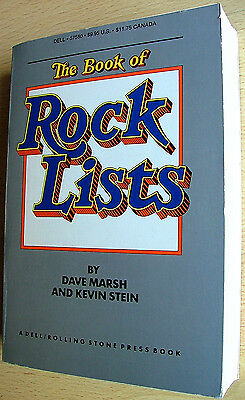 Dave Marsh & Kevin Stein - The Book Of Rock Lists - orig. edition 1981 like new