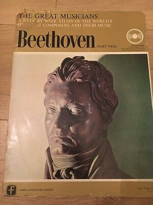 "THE GREAT MUSICIANS - BEETHOVEN (Part 2)  MAG WITH ENCLOSED 10"" VINYL LP, 1969"