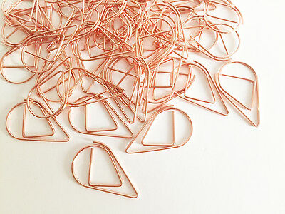10 pcs Metal Paper Clips Rose Gold Korean Stationery Bookmarks Cute Planner