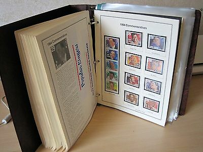 USA STAMPS - 100+ MNH sets Commemorative Stamps  1990 - 1999 in album