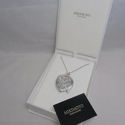 Mikimoto Flower magnifying glass / Loupe  Pendant with Pearl For Gift! Authentic