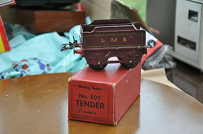 1930s HORNBY O GAUGE TENDER No.501 L.M.S MAROON LIVERY, BOXED