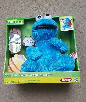 BNIB Sesame Street Count and Crunch Cookie Monster
