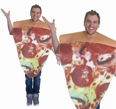 Unisex Adult Pizza Pepperoni Slice Fancy Dress Costume Stag Do Party One Size