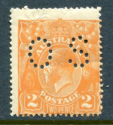 1920 2d ORANGE KGV, PUNCTURED OS, MINT NEVER HINGED