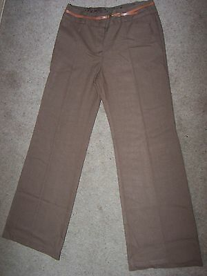 ladies smart trousers by next size 10 R brown