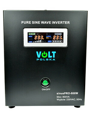 Off Grid Pure Sine Wave Inverter Charger Sinus Pro 800W 12V /240V  20A  AVR UPS
