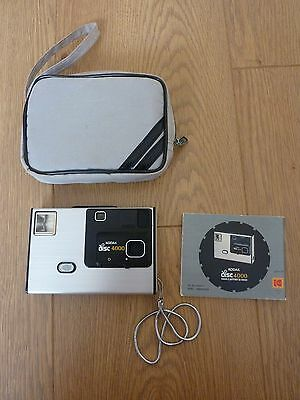 Vintage Kodak Disc 4000 Camera uses Disc Film - With case & Manual - Made In USA