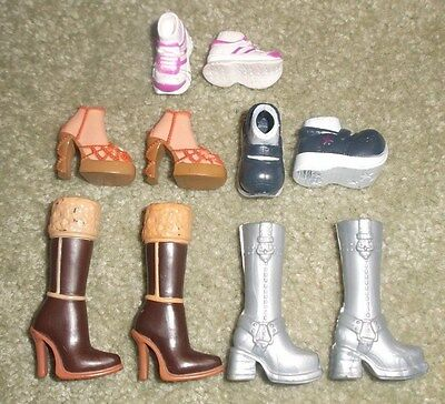 BARBIE DOLL SHOES - 5 PAIRS of ASSORTED MY SCENE SHOES