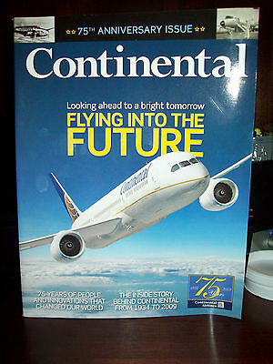 CONTINENTAL AIRLINES 75th ANNIVERSARY ISSUE MAGAZINE