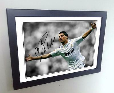 12x8 A4 Signed Cristiano Ronaldo Real Madrid Photo Photograph Picture Autograph
