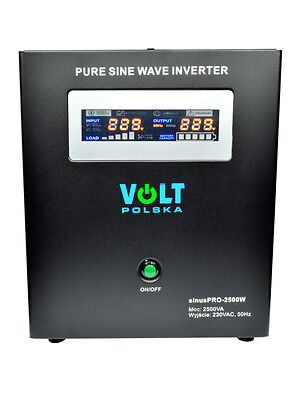 Off Grid Pure Sine Wave Inverter Charger Sinus Pro 2500W 24V /230V 20A AVR UPS