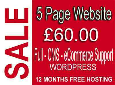 5 Pages Website  - Plus Free Domain Name And Hosting