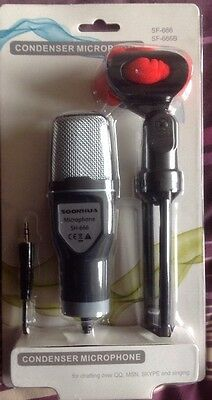 Microphone - Condenser - 3.5mm jack plug - stand and clip