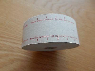 Setright Ticket Roll South Wales Transport