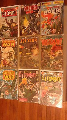 Big Lot of 22 vintage WAR COMICS 1950s Joe Yank Warfront 1960s GI Combat #138