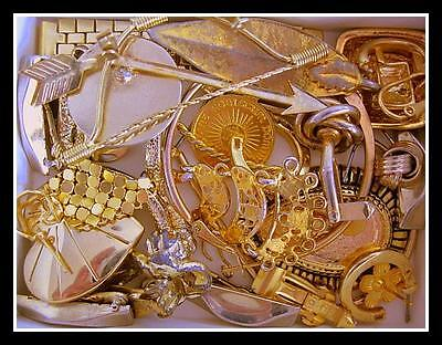 Jewelry Pieces & Parts Gold Plated 100 Grams Scrap Gold Recovery Lot