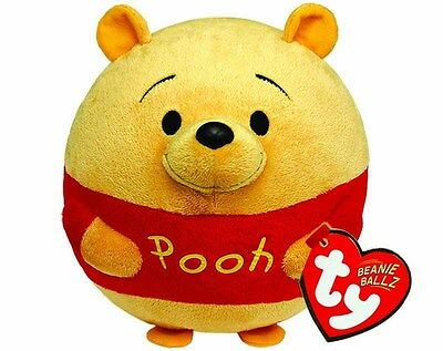 "TY UK Beany Ballz Cute Winnie The Pooh Soft Plushie Stuffed Toy 5"" Ages 4 and Up"
