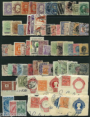 BRAZIL Mint & Used x50+ from old albums - postmark interest [P345